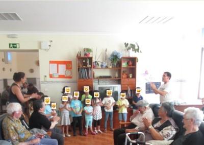 Visita dos meninos do ATL da Redinha